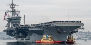 Abraham Lincoln Carrier arrived at Naval Air Station
