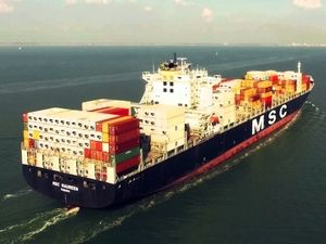 Phantom 3 Professional - Container ship MSC Maureen 4K
